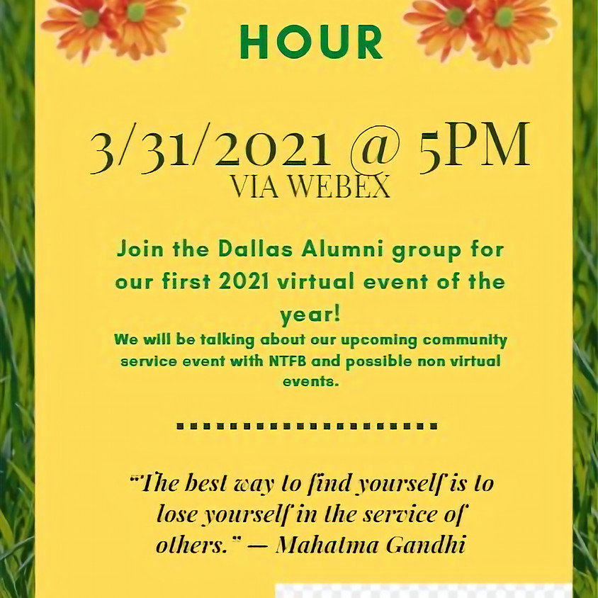 Dallas GIS Alumni Council Virtual Happy Hour