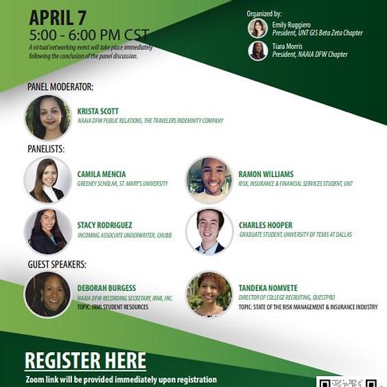 April 7, 2021 - UNT GIS Beta Zeta/NAAIA Recruiting Gen Z Panel Discussion Event