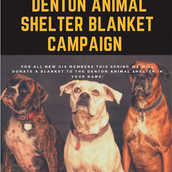 Spring 2021 Ongoing Event - Denton Animal Shelter Blanket Outreach Campaign