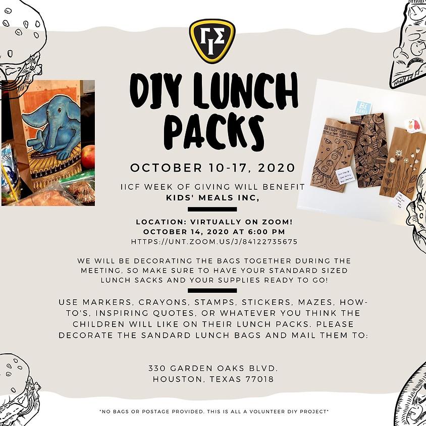 DIY Lunch Sacks - GIS Beta Zeta Community Service Event