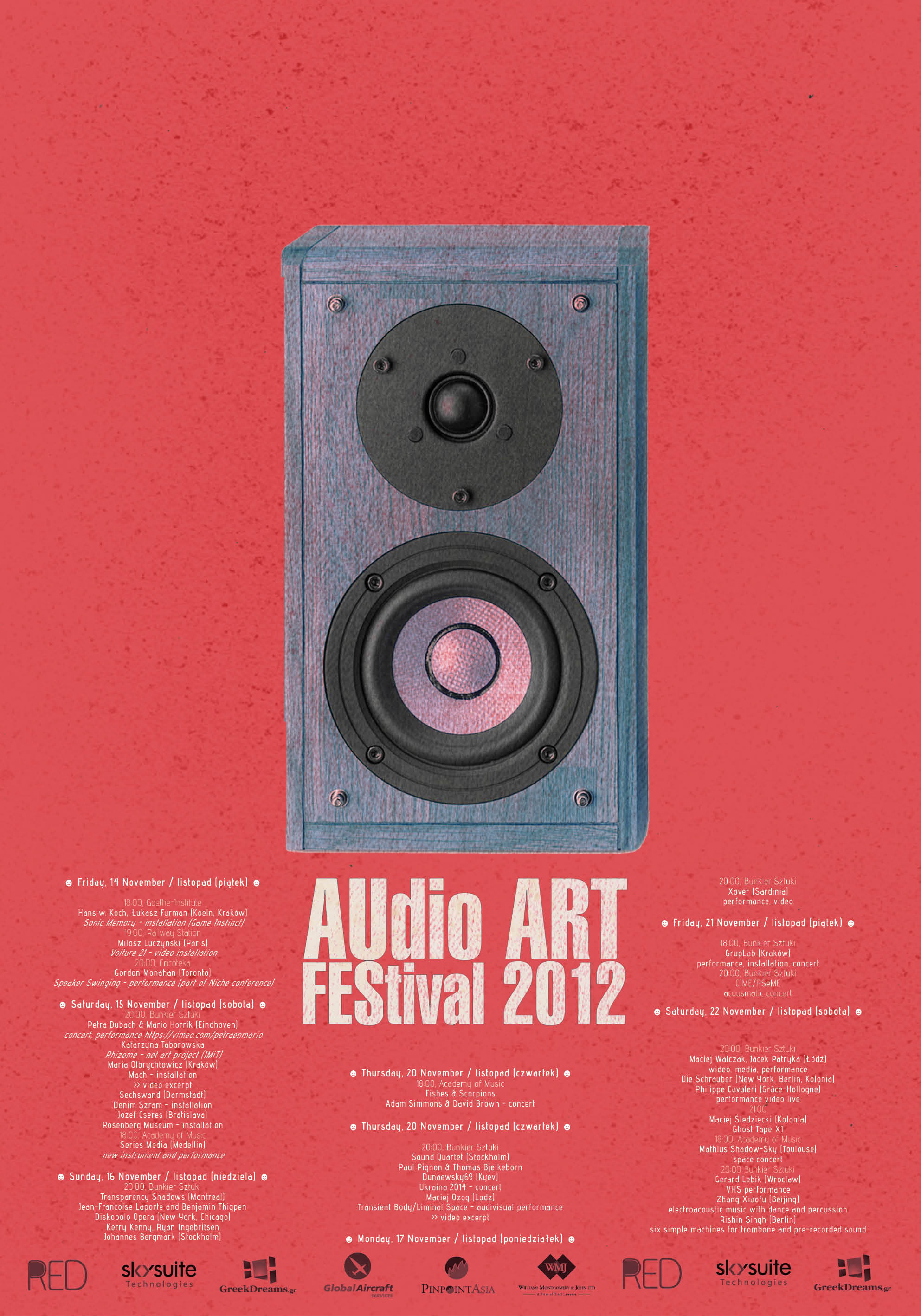 Audio Art Festival 2012 Poster