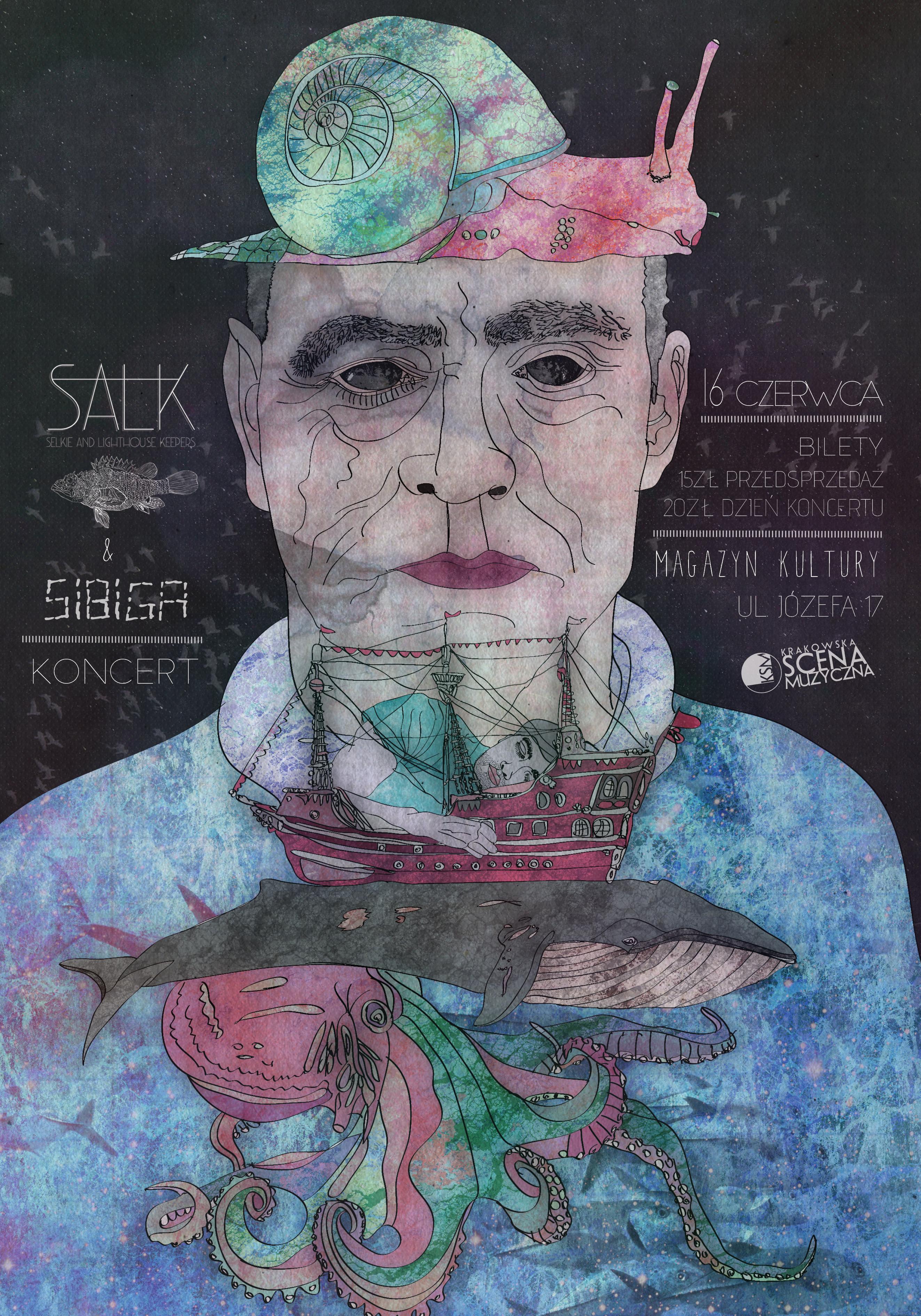 Plakat Salk concert.