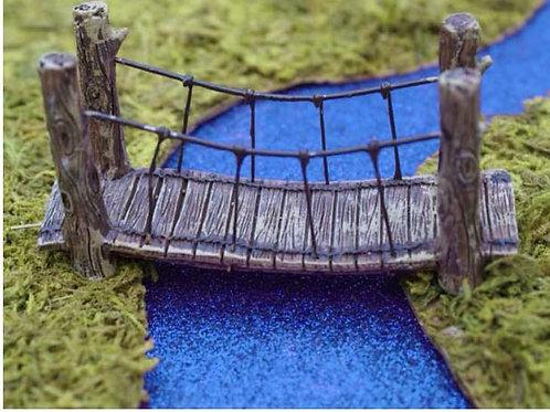 Fiddlehead woodland suspension bridge