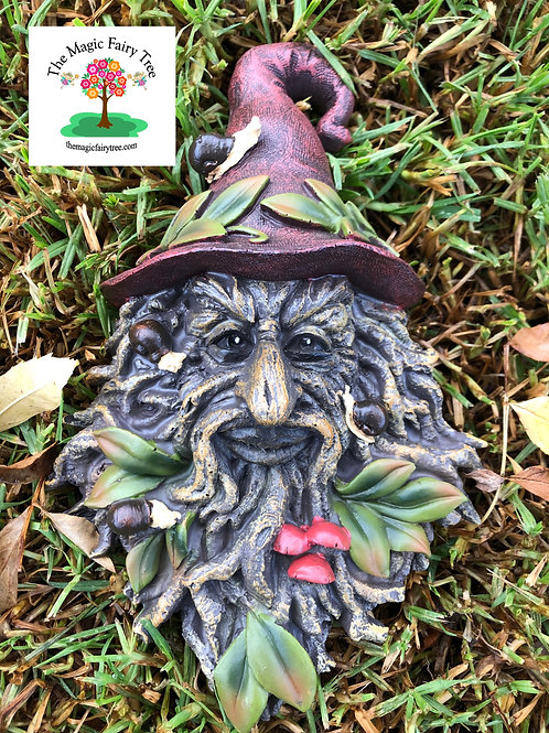 Wizard Hat Treant Green Man Wisdom Tree Plaque