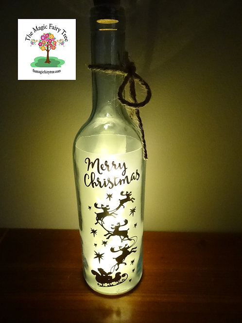 Christmas wishlight bottle light gift