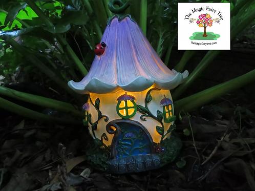 Solar Purple Flower Fairy House