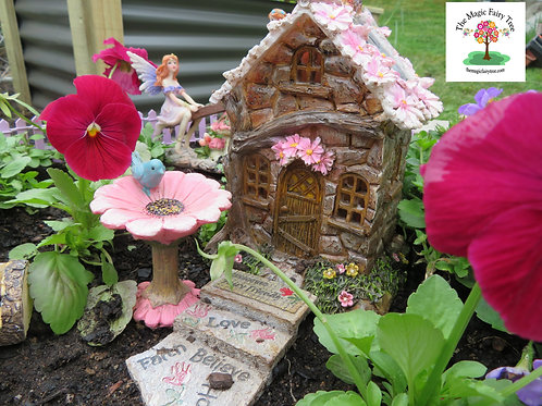 Solar flower fairy woodland house