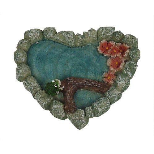 Fairy Garden Heart Pond