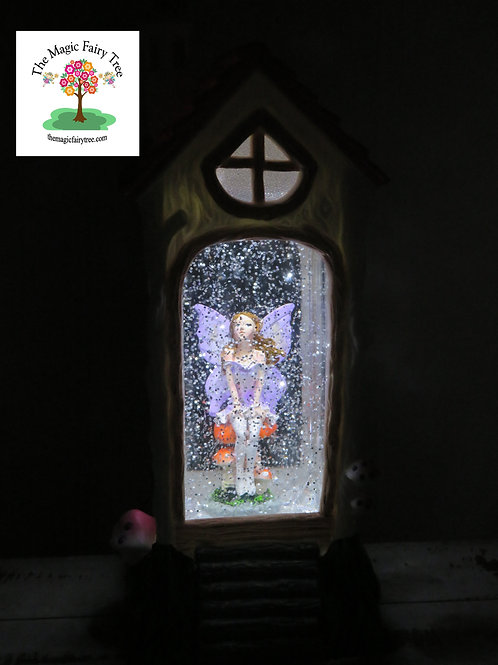 Fairy House Lantern - Purple Fairy Design