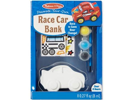 Melissa & Doug Decorate Your Own Racing Car Bank Box