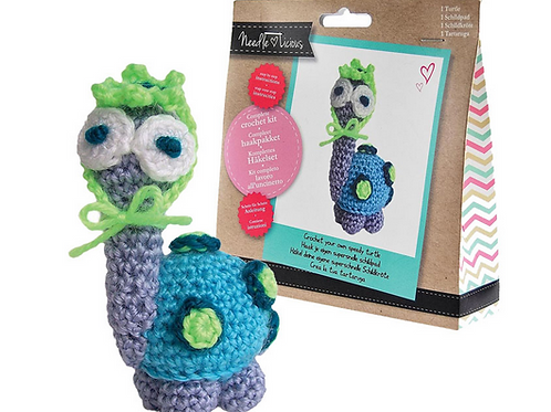 Needlelicious Turtle Crochet Amigurami Kit