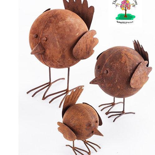 Rusty metal bird - tweety - small, medium or large