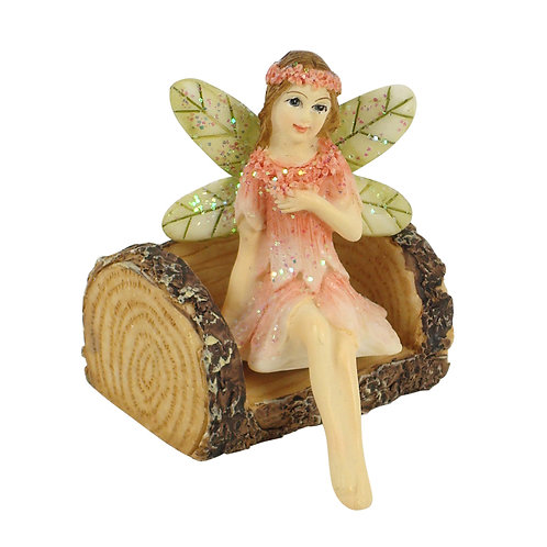 Fairy Garden Furniture - Log Chair
