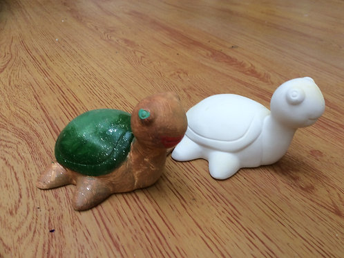 Ceramic ready to paint pottery sea turtle