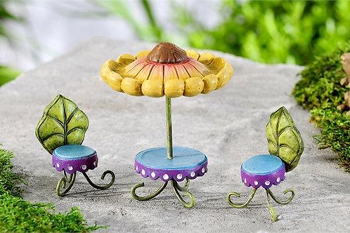 Mini World Fairytale Sunflower Table & Chairs