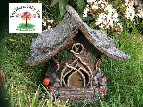 Solar Glitter Fairy House