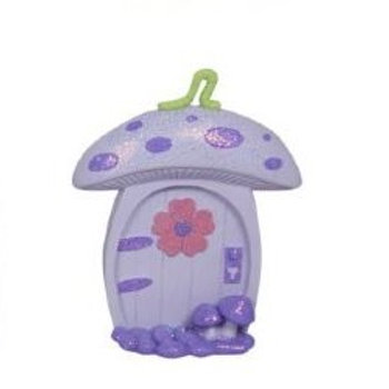 Lilac fairy door - toadstool - 10cm