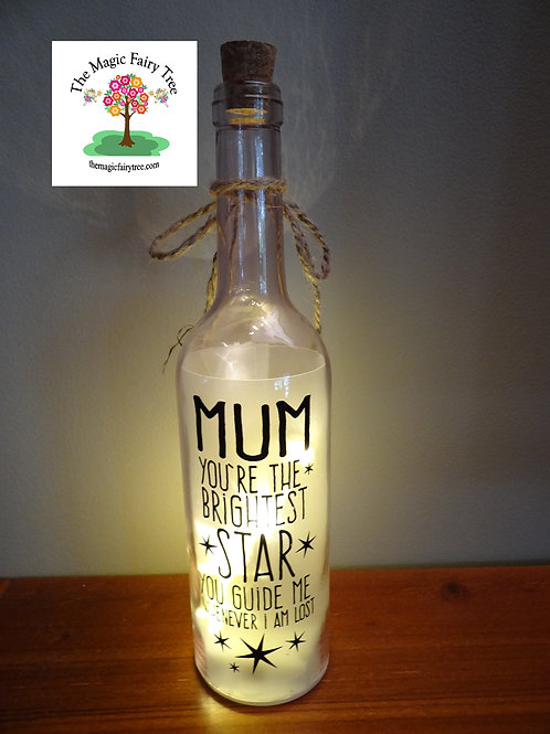Mum wishlight bottle light gift