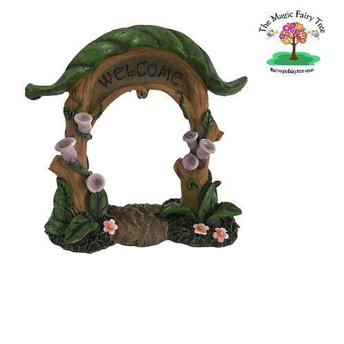 Welcome Fairy Garden Arbour