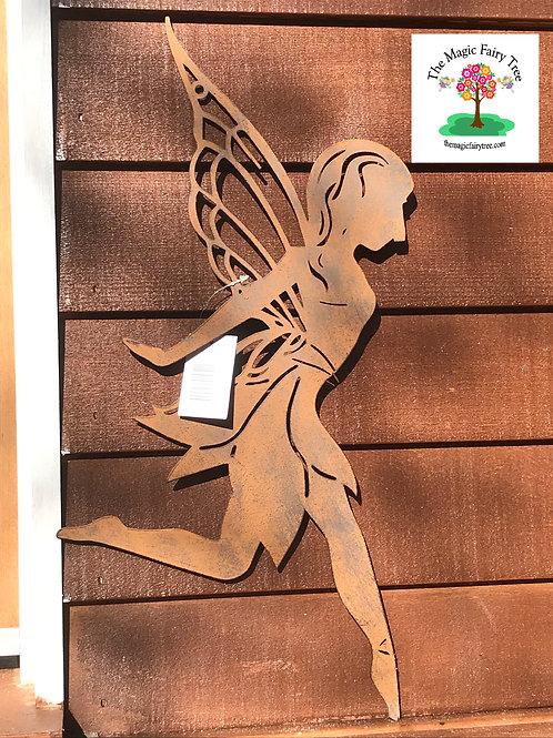 Metal Dancing Fairy Wall Plaque