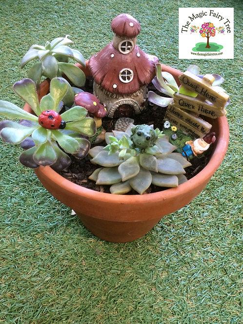 Gnome fairy garden set