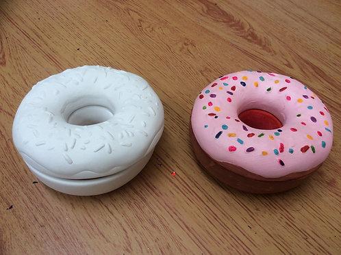 Ready to paint ceramic doughnut box