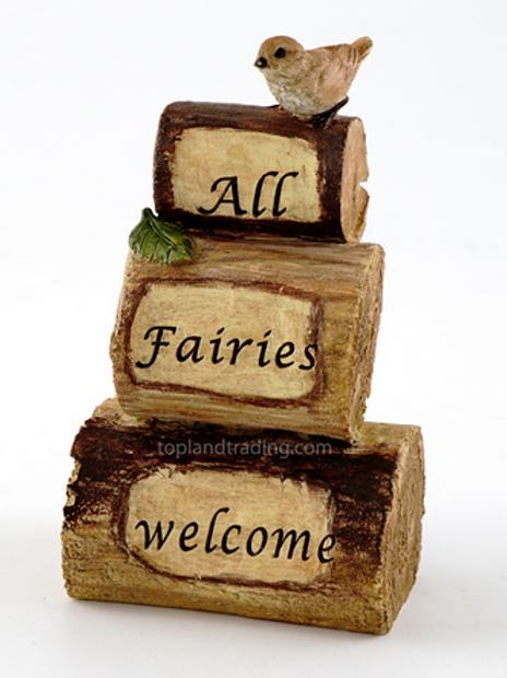 Fairy garden sign - All Fairies Welcome