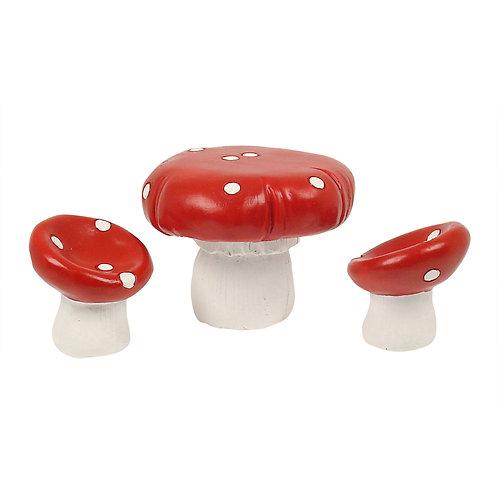 Mushroom table set