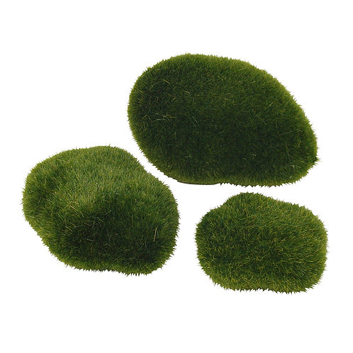 Fairy Garden Faux Moss Ball Rocks