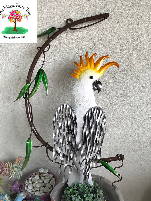 Cockatoo on a branch wall art