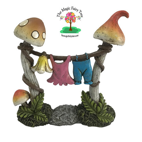 Fairy Garden Mushroom Clothesline