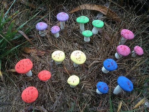 Miniature Mushroom or Toadstools - set of 3