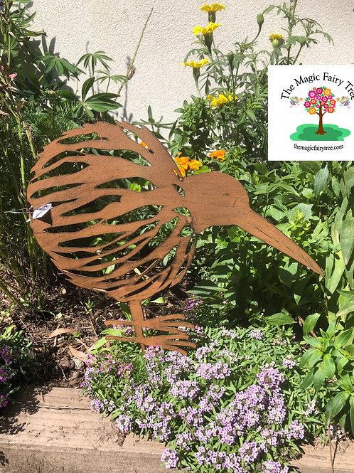 Metal Kiwi Garden Stake