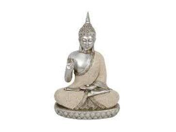 28cm sand finish meditating Buddha