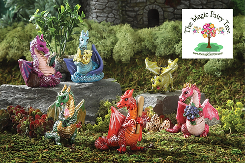 Fiddlehead dragon figurines