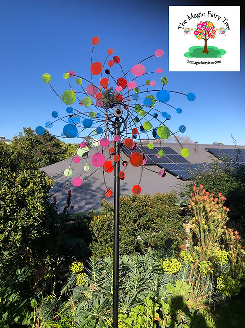 Colourful Rainbow wind spinner windmill