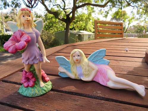Ceramic bisque ready to paint flower fairies