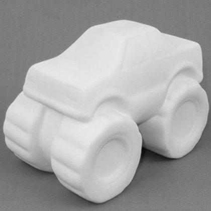 Ready to paint ceramic monster truck money box