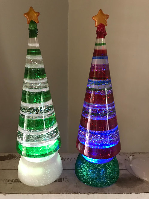 LED glitter water ball Christmas Tree Lights