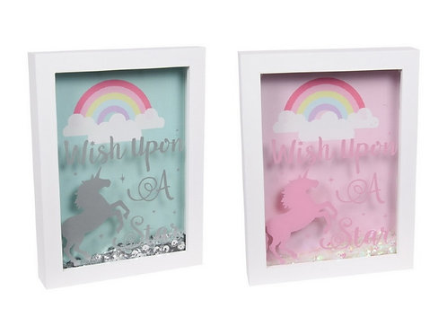 Rainbow Unicorn Wishes Box