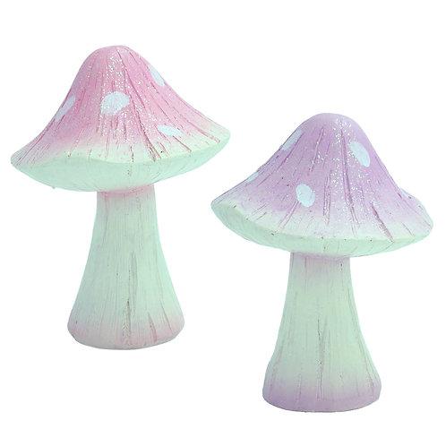 Lilac or Pink Glitter Mushroom - 7cm