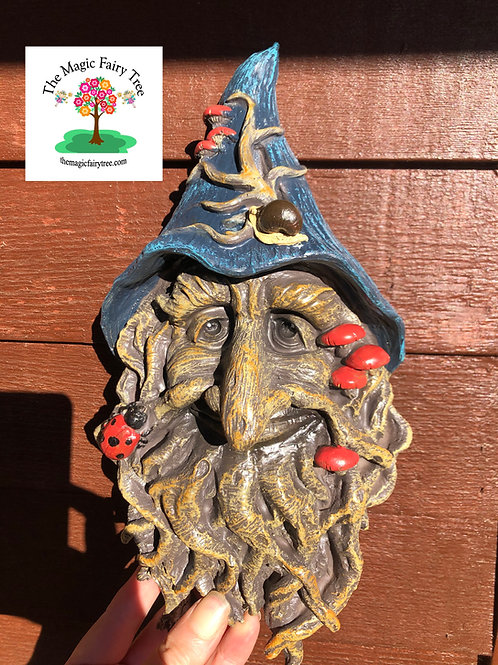 Wizard Hat Treant Green Man Wisdom Tree Plaque