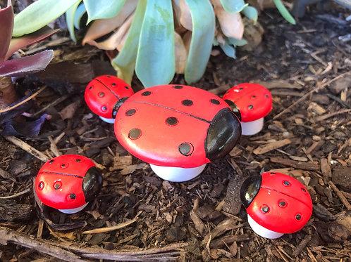 Ladybug table and stool set