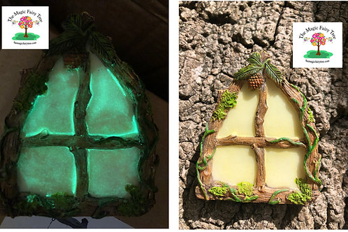 Glow in the Dark Arched Fairy Window