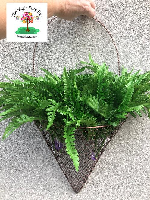 Half cone basket wall planter