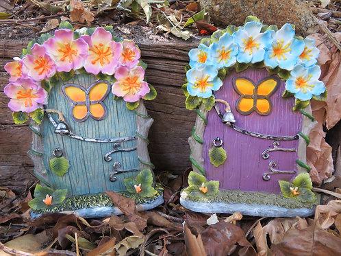 Flower Design Fairy Door - 20cm