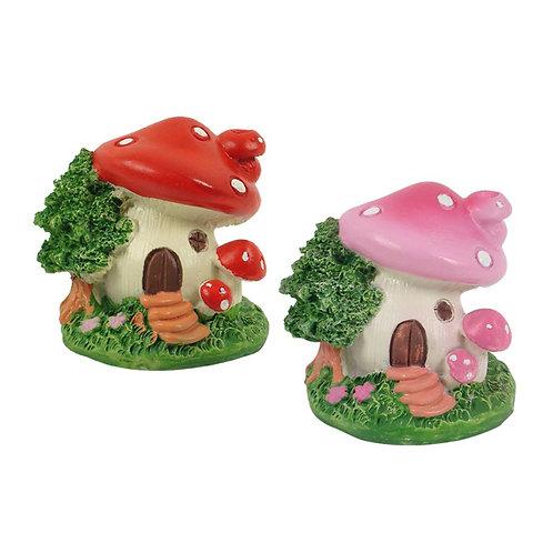 Micro Miniature Mushroom House - 6cm