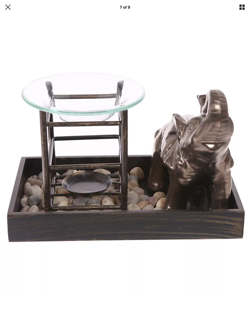 Elephant tealight oil burner