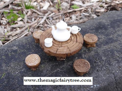 Fiddlehead woodland picnic table set