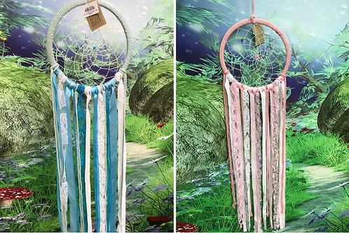 22cm Lace and ribbon dreamcatcher